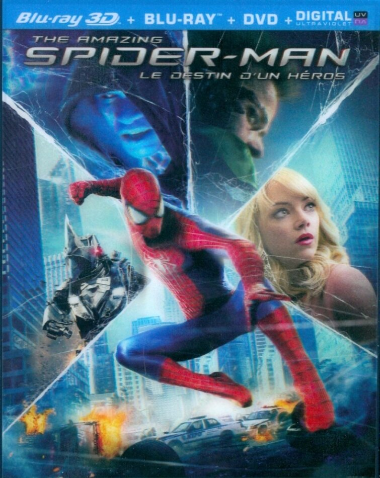 The Amazing Spider-Man 2 - Le destin d'un Héros (2014) (Blu-ray 3D + Blu-ray + DVD)