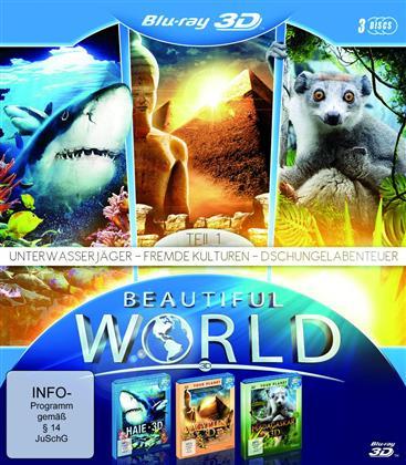 Beautiful World in - Unterwasserjäger / Fremde Kulturen / Dschungelabenteuer - Teil 1 (3 Blu-rays)