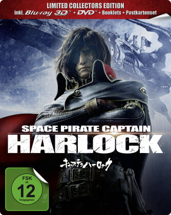 Space Pirate Captain Harlock (2013) (Collector's Edition Limitata, Steelbook, Blu-ray 3D (+2D) + Blu-ray + DVD)