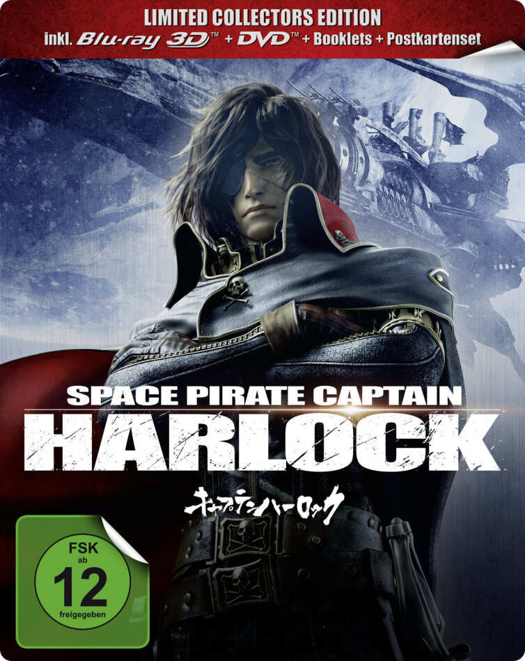 Space Pirate Captain Harlock (2013) (Limited Collector's Edition, Steelbook, Blu-ray 3D (+2D) + Blu-ray + DVD)