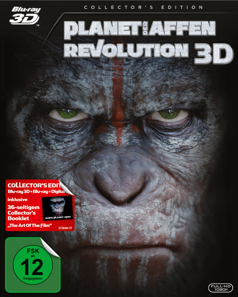 Planet der Affen: Revolution (2014) (Collector's Edition, Blu-ray 3D + Blu-ray)