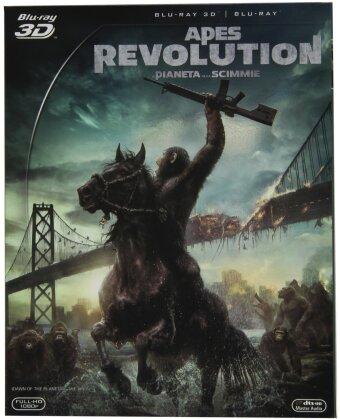 Apes Revolution - Il Pianeta delle Scimmie (2014) (Blu-ray 3D + Blu-ray)