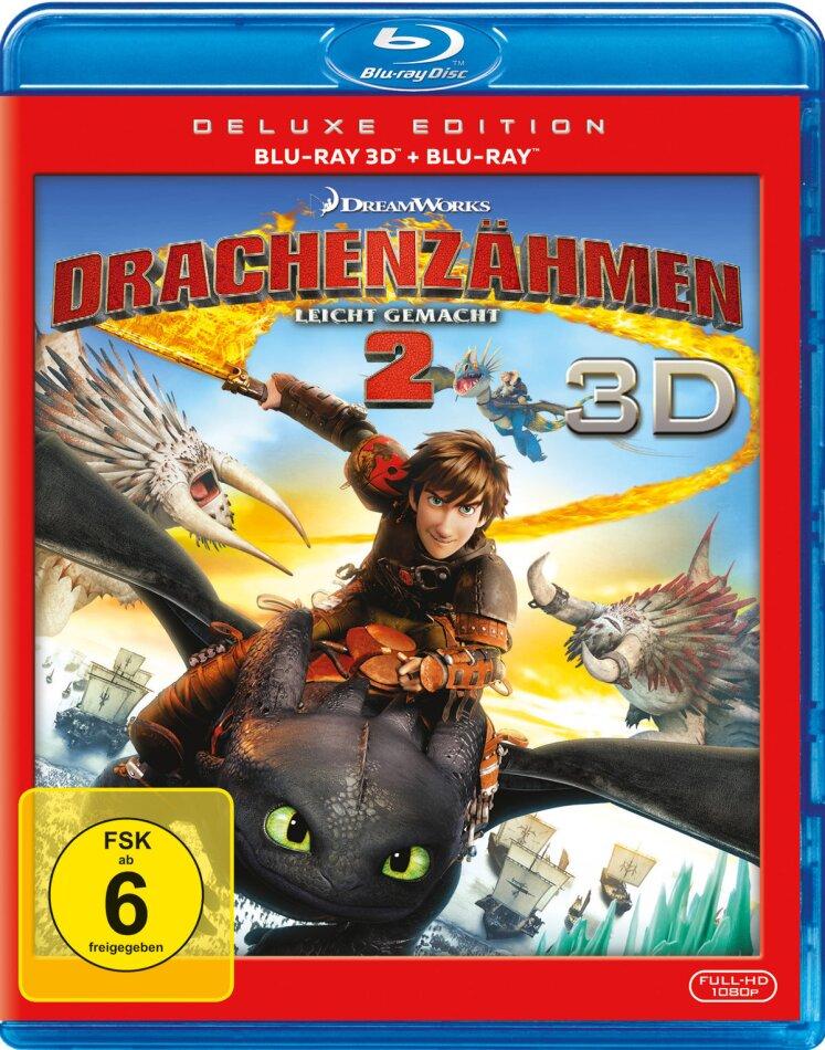 Drachenzähmen leicht gemacht 2 (2014) (Édition Deluxe, Blu-ray 3D + Blu-ray)