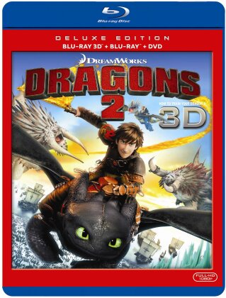 Dragons 2 (2014) (Deluxe Edition, Blu-ray + Blu-ray 3D + DVD)