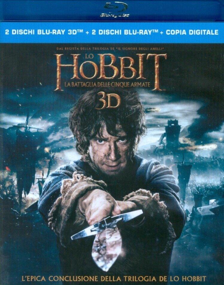 Lo Hobbit 3 - La battaglia delle cinque armate (2014) (2 Blu-ray 3D + 2 Blu-rays)