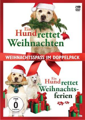 Ein Hund rettet Weihnachten / Ein Hund rettet die Weihnachtsferien - Weihnachtsspass im Doppelpack (2 DVDs)