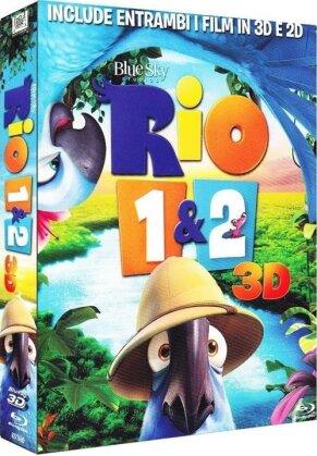 Rio 3D (2011) / Rio 2 3D (2014) (2 Blu-ray 3D (+2D))