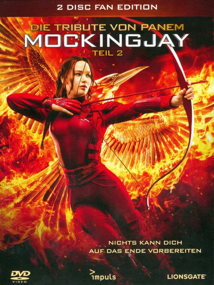 Die Tribute von Panem 4 - Mockingjay - Teil 2 (2015) (Digibook, Fan Edition, 2 DVDs)