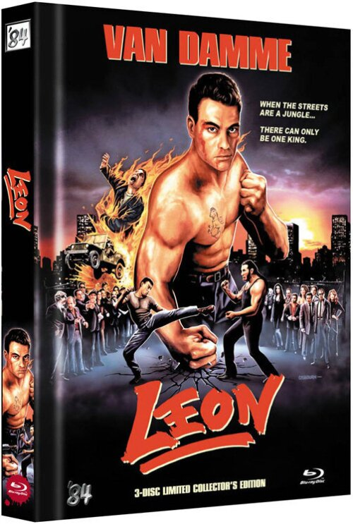 Leon (Van Damme) - Cover A - (Limited Mediabook Edition / Blu-Ray + DVD + Soundtrack-DVD) (1990)