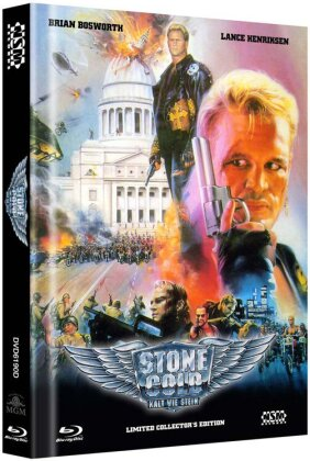 Stone Cold - Kalt wie Stein - Cover D (1991) (Limited Edition, Mediabook, Blu-ray + 2 DVDs)