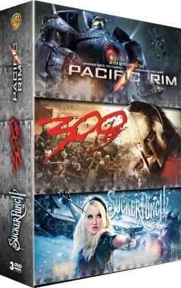 Pacific Rim / 300 / Sucker Punch (3 DVDs)