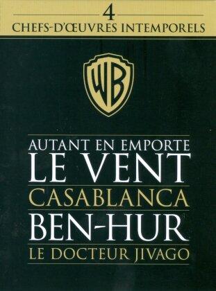 Autant en emporte le vent / Casablanca / Ben-Hur / Le Docteur Jivago - 4 chefs-d'oeuvres intemporels (6 DVDs)