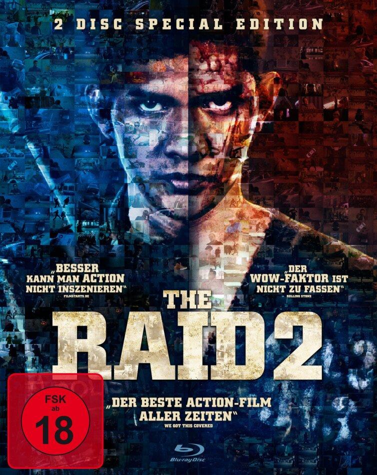 The Raid 2 (2014) (Ungeschnittene Kinofassung, Edizione Speciale, 2 Blu-ray)