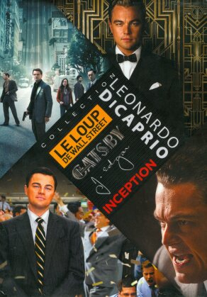 Leonardo DiCaprio Collection - Le Loup de Wall Street / Gatsby le magnifique / J. Edgar / Inception (4 DVD)