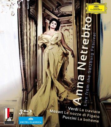 Anna Netrebko - Live from the Salzburg Festival (Deutsche Grammophon, Unitel Classica, Salzburger Festspiele, 3 Blu-rays)
