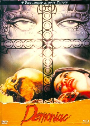 Demoniac (1974) (Cover B, Eurocult Collection, Limited Ultimate Edition, Mediabook, Uncut, Blu-ray + 3 DVDs)