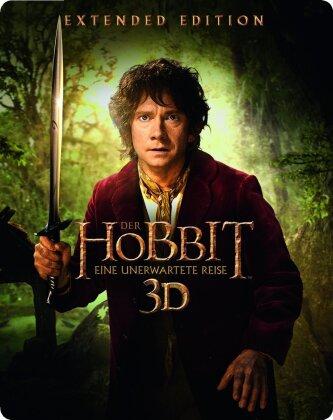 Der Hobbit - Eine unerwartete Reise (2012) (Extended Edition, Steelbook, 5 Blu-ray 3D (+2D))