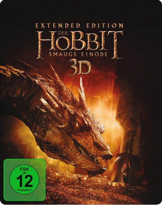 Der Hobbit 2 - Smaugs Einöde (2013) (Extended Edition, Steelbook, 5 Blu-ray 3D (+2D))