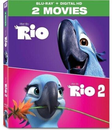 Rio / Rio 2 (2-Movie Collection, 2 Blu-rays)