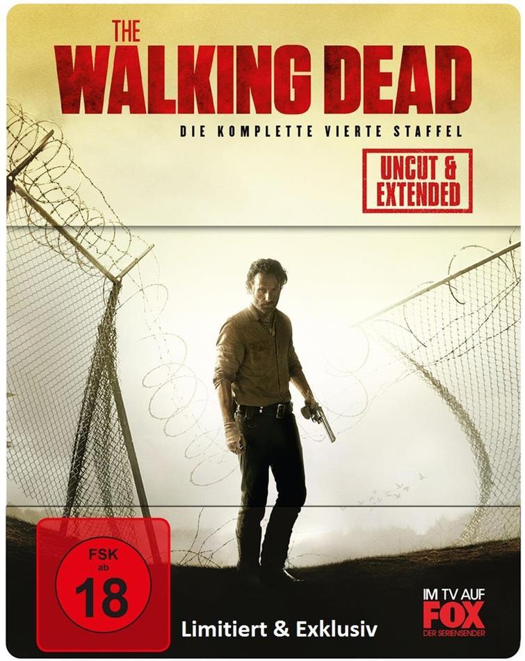 The Walking Dead - Staffel 4 (Extended Edition, Steelbook, Uncut, 5 Blu-rays)