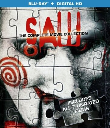 Saw 1-7 - The Complete Movie Collection (Unrated, 3 Blu-rays)