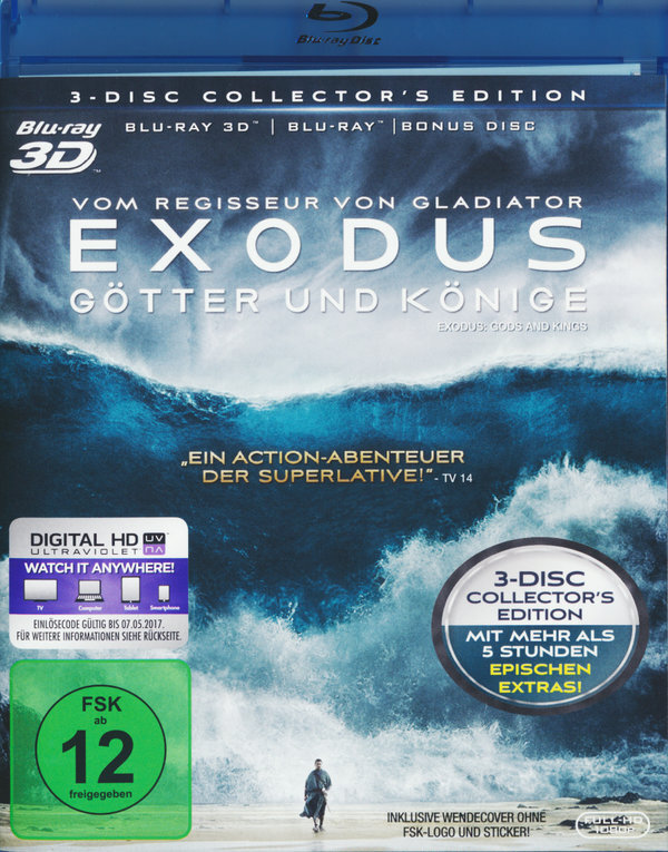 Exodus - Götter und Könige (2014) (Collector's Edition, Blu-ray 3D + 2 Blu-ray)