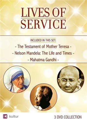 Lives of Service - The Testament of Mother Teresa / Nelson Mandela: The Life and Times / Mahatma Gandhi (3 DVDs)