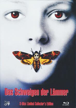 Das Schweigen der Lämmer - Cover A (1991) (Limited Edition, Mediabook, Blu-ray + 2 DVDs)