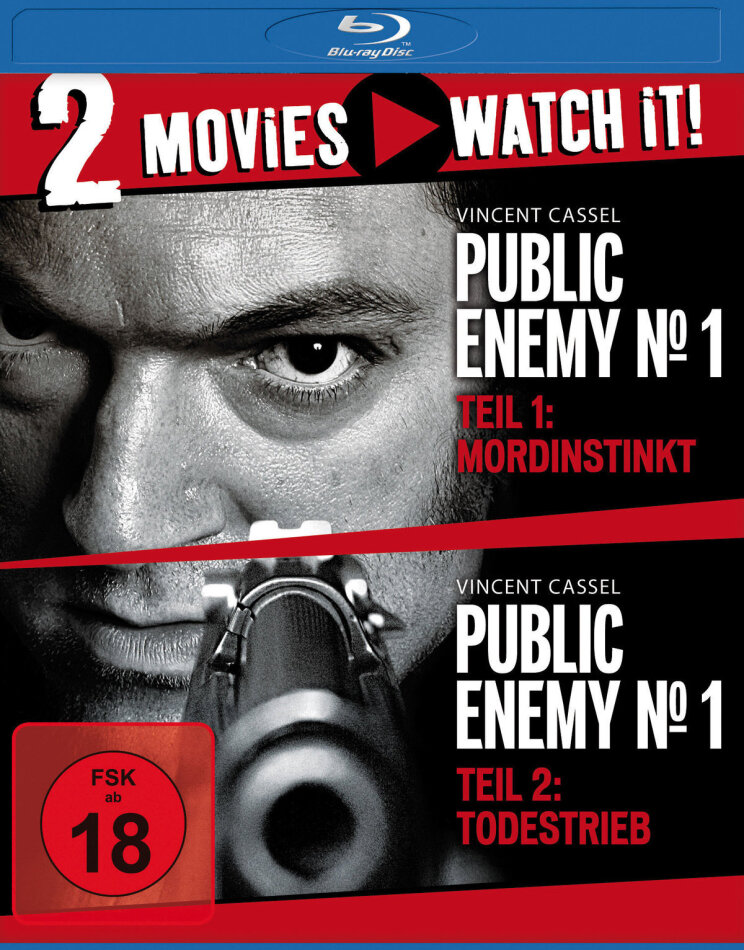 Public Enemy No. 1 - Mordinstinkt / Todestrieb - Mesrine (2008) (Neuauflage, 2 Blu-rays)