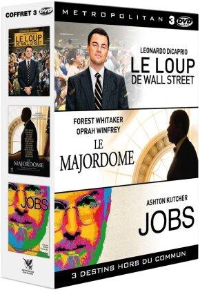 Le loup de Wall Street / Le Majordome / Jobs (3 DVDs)
