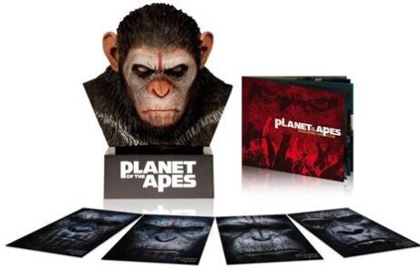 Rise Of The Planet Of The Apes 2011 Dawn Of The Planet Of The Apes 2014 Caesar S Warrior Collection Replica Limited Edition With Booklet 3 Discs Cede Com