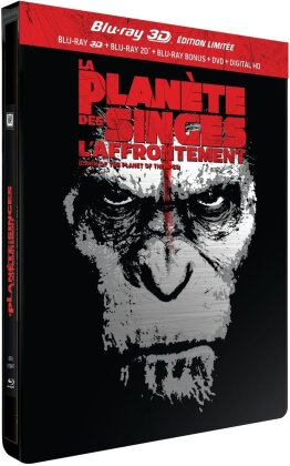 La Planète des Singes - L'affrontement (2014) (Limited Edition, Steelbook, Blu-ray 3D + Blu-ray + DVD)
