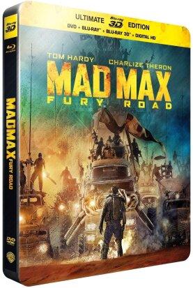 Mad Max - Fury Road (2015) (Steelbook, Blu-ray 3D + Blu-ray + DVD)