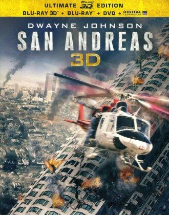 San Andreas (2015) (Blu-ray 3D + Blu-ray + DVD)