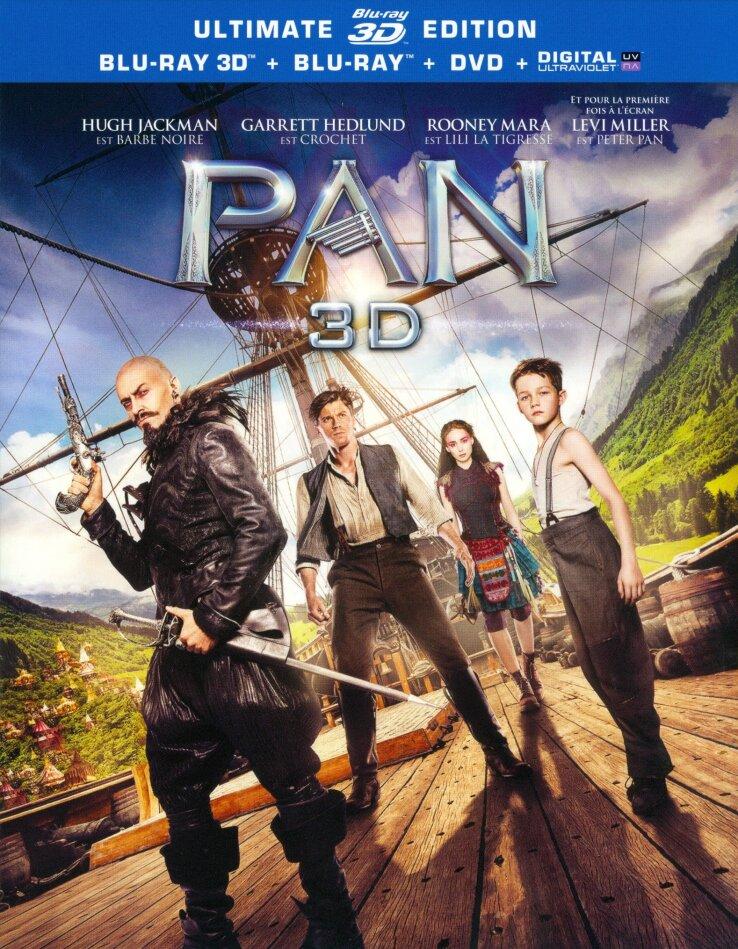 Pan (2015) (Blu-ray 3D + Blu-ray + DVD)