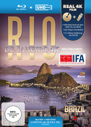 Rio de Janeiro, Brazil - (Limited Edition: UHD Stick in Real 4K + Blu-ray)