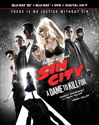Sin City 2 - A Dame to Kill for (2014) (Blu-ray 3D (+2D) + Blu-ray + DVD)
