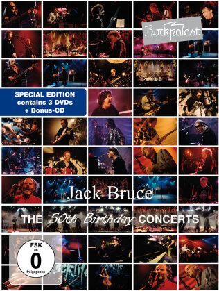 Jack Bruce - Live at Rockpalast - The 50th Birthday Concerts (3 DVDs + CD)