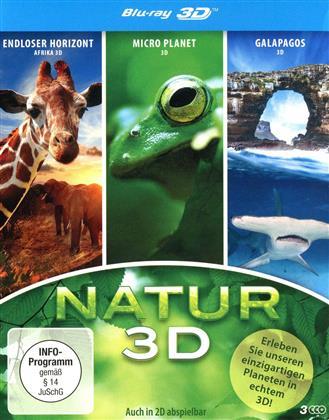 Natur - Endloser Horizont / Micro Planet/ Galapagos (2012) (3 Blu-ray 3D (+2D))