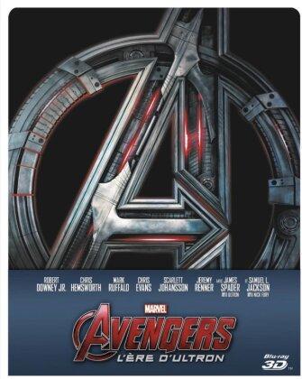 Avengers 2 - L'ère d'Ultron (2015) (Steelbook, Blu-ray 3D + Blu-ray)
