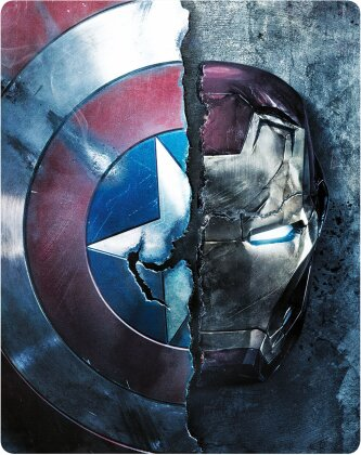 Captain America 3 - Civil War (2016) (Limited Edition, Steelbook, Blu-ray 3D + Blu-ray)