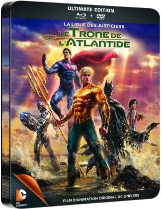 La ligue des justiciers - Le trône de l'Atlantide (Steelbook, Blu-ray + DVD)