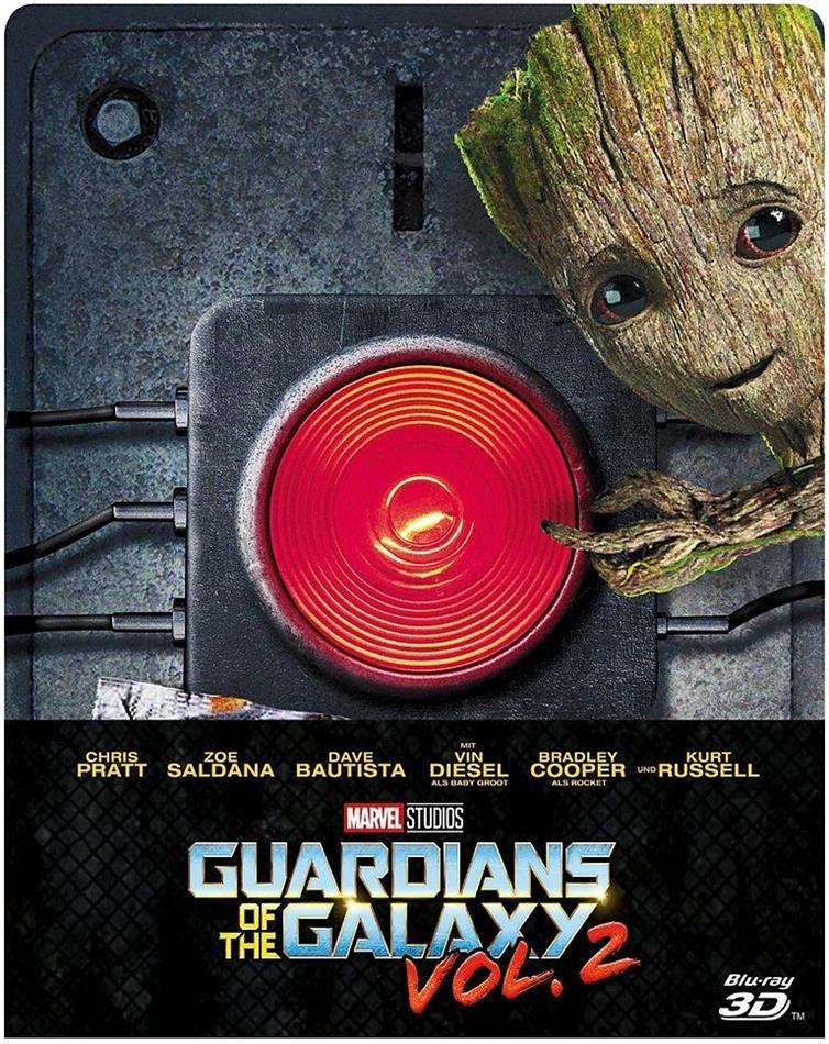 Guardians of the Galaxy - Vol. 2 (2017) (Limited Edition, Steelbook, Blu-ray 3D + Blu-ray)