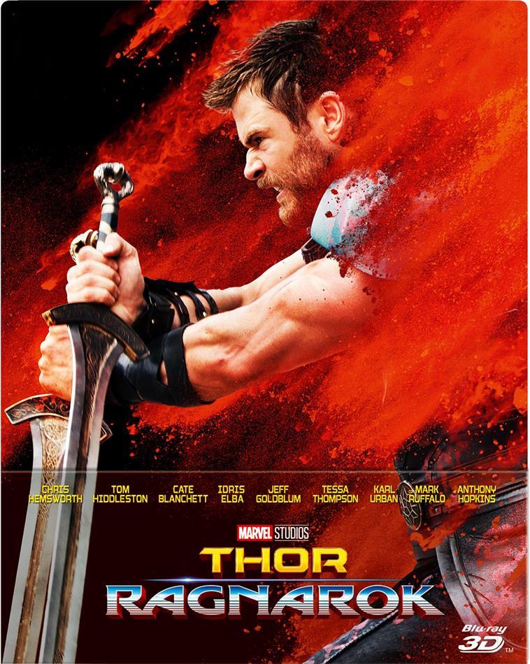 Thor 3 - Ragnarok (2017) (Limited Edition, Steelbook, Blu-ray 3D + Blu-ray)