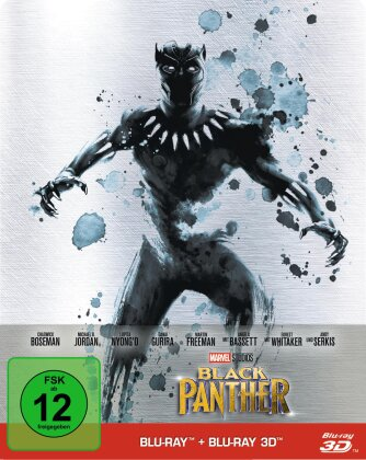 Black Panther (2018) (Limited Edition, Steelbook, Blu-ray 3D + Blu-ray)