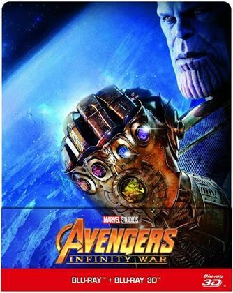 Avengers 3 - Infinity War (2018) (Steelbook, Blu-ray 3D + Blu-ray)