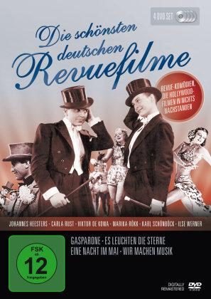 Die schönsten deutschen Revuefilme - Gasparone / Es leuchten die Sterne / Eine Nacht im Mai / Wir machen Musik (Digitally Remastered, s/w, 4 DVDs)