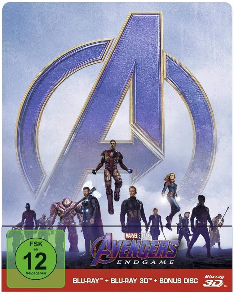 Avengers 4 - Endgame (2019) (Limited Edition, Steelbook, Blu-ray 3D + 2 Blu-rays)