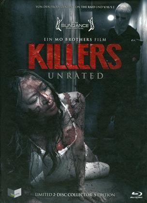 Killers (2014) (Cover C, Collector's Edition, Limited Edition, Mediabook, Unrated, Blu-ray + DVD)