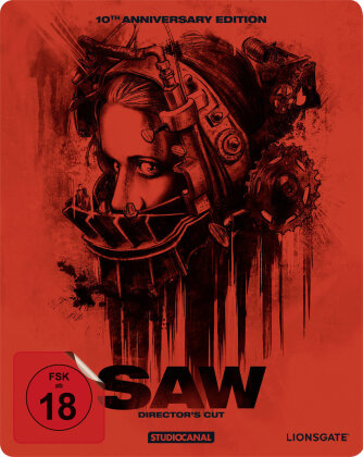 Saw (2004) (10th Anniversary Edition, Director's Cut, Steelbook)